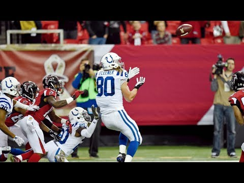 Coby Fleener Game Sealing Interception || Colts at Falcons 2015