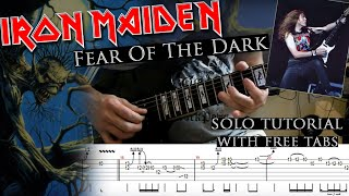 Iron Maiden - Fear Of The Dark Janick Gers's solo lesson (with tablatures and backing tracks)