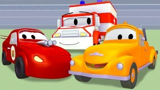 Ambulance, Fire Truck, Racing car, Garbage Truck with Tom The Tow Truck | Trucks cartoon for kids
