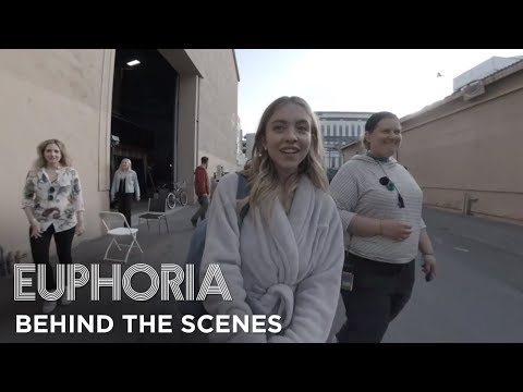 euphoria | set tour with sydney sweeney - behind the scenes of season 1 | HBO