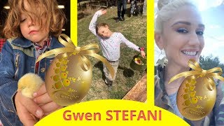 Gwen Stefani with Blake Shelton and her family for Easter !