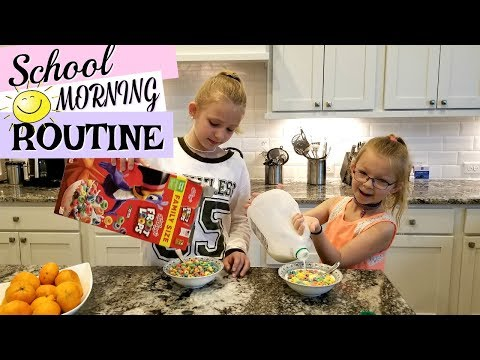 SCHOOL MORNING ROUTINE In Our New House