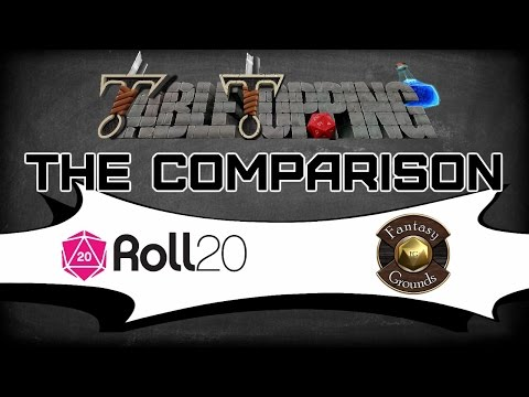 """Let's Compare Roll20 & Fantasy Grounds """"What Do Both Of These Virtual TableTops Have To Offer?"""""""
