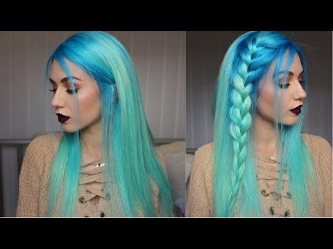 How to: Neon Blue to Pastel Mint Hair Dye | Stella