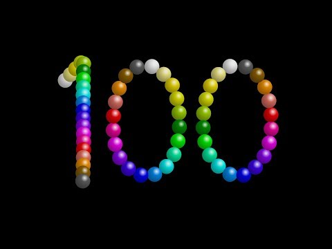 Color Ball Counting - 1 to 100 - The Kids' Picture Show (Fun & Educational Learning Video)