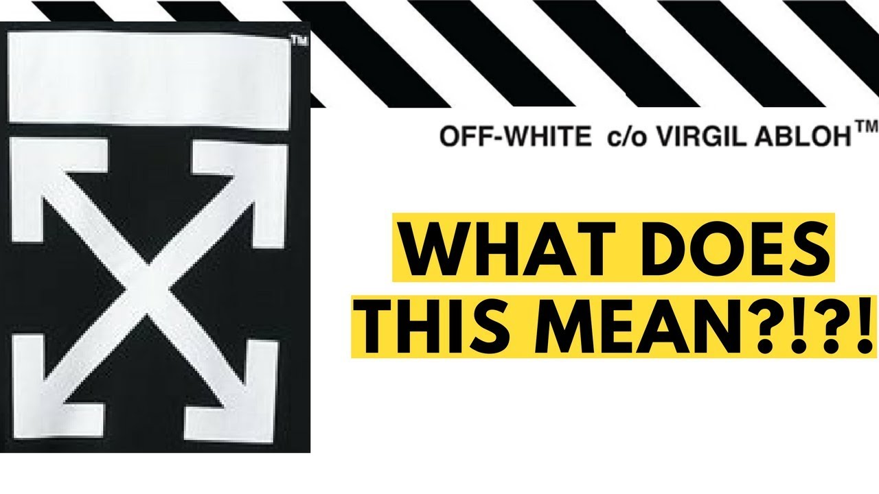 41bf6c375b0c What Do the Off White Arrows Mean !  Questioning Virgil Abloh s Off White  Logo