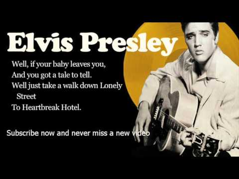 Elvis Presley - Heartbreak Hotel - Lyrics