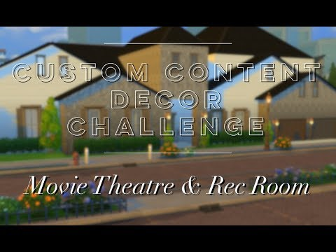 Custom Content Decor Challenge: Movie Theatre & Rec Room
