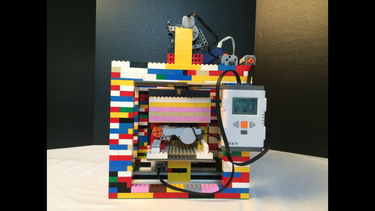 Diy 3d printer made completely out of legos youtube for Made with 3d printer