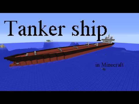Huge tanker ship in Minecraft
