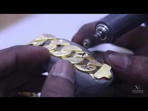Gents Bracelet Machine Cutting Using The Diamond I Tamil I Hand Made Jewelry