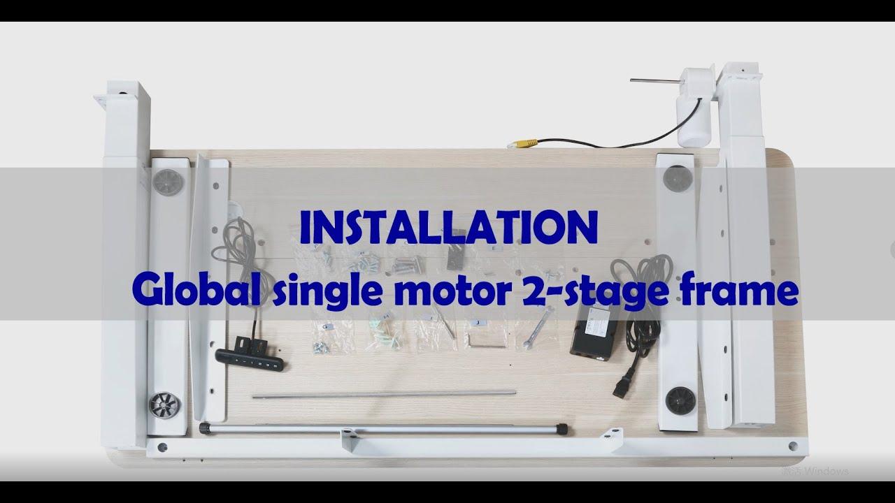 video Marco eléctrico 3 etapas MAIDeSite para mesa regulable