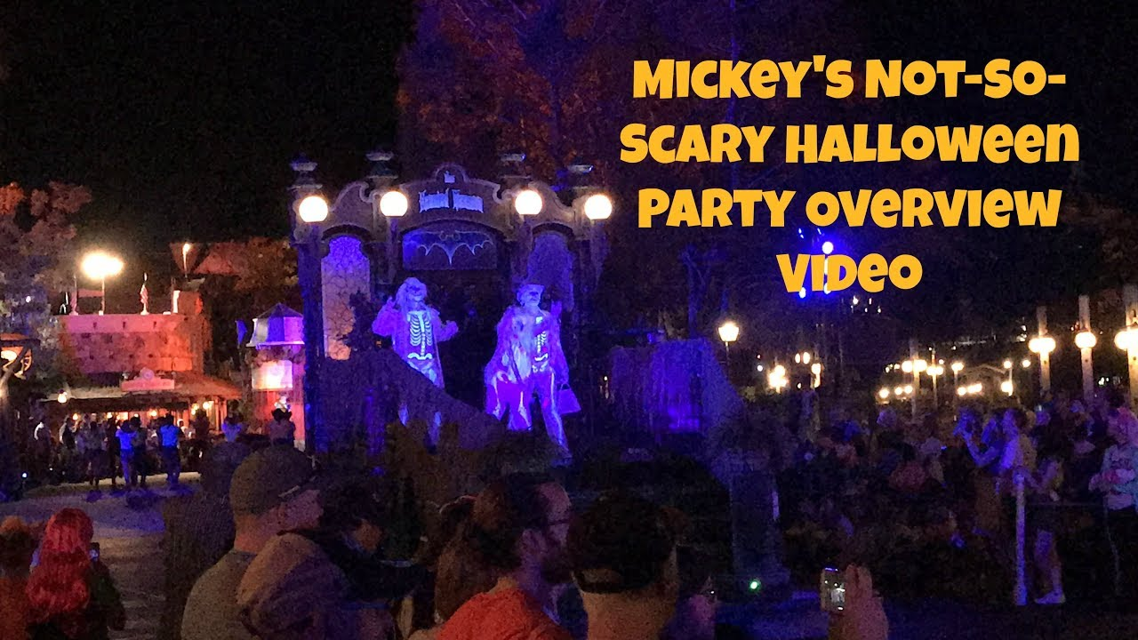 mickeys not so scary halloween party overview walt disney world