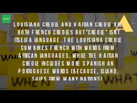 Is Louisiana Creole And Haitian Creole The Same?