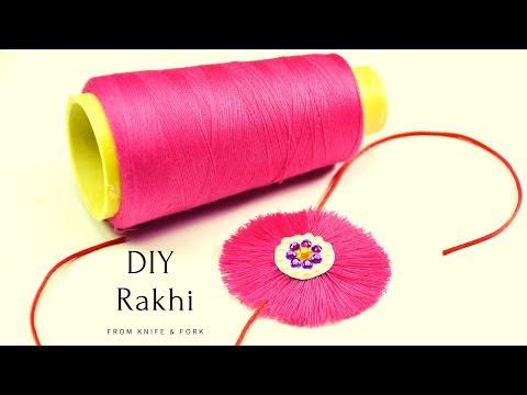 How to make rakhi at home| Rakhi making ideas | DIY Thread Rakhi | Happy Rakshabandhan |