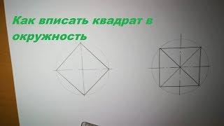 Как вписать квадрат в окружность