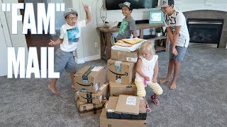 UNBOXING A MOUNTAIN OF FAM MAIL FROM ALL OVER THE WORLD! | OPENING PRESENTS FROM SUBSCRIBERS