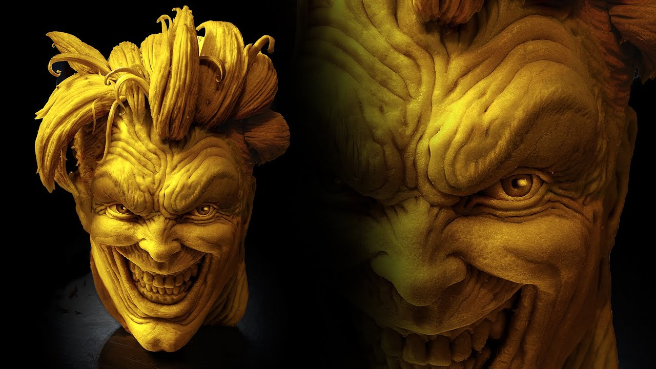 The Joker Amazing 3d Pumpkin Carving Youtube