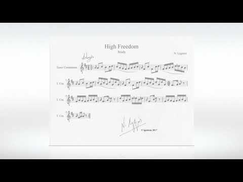 N. Lygeros - High Freedom. (Study for Tenor Cornamuse), 21/09/2017