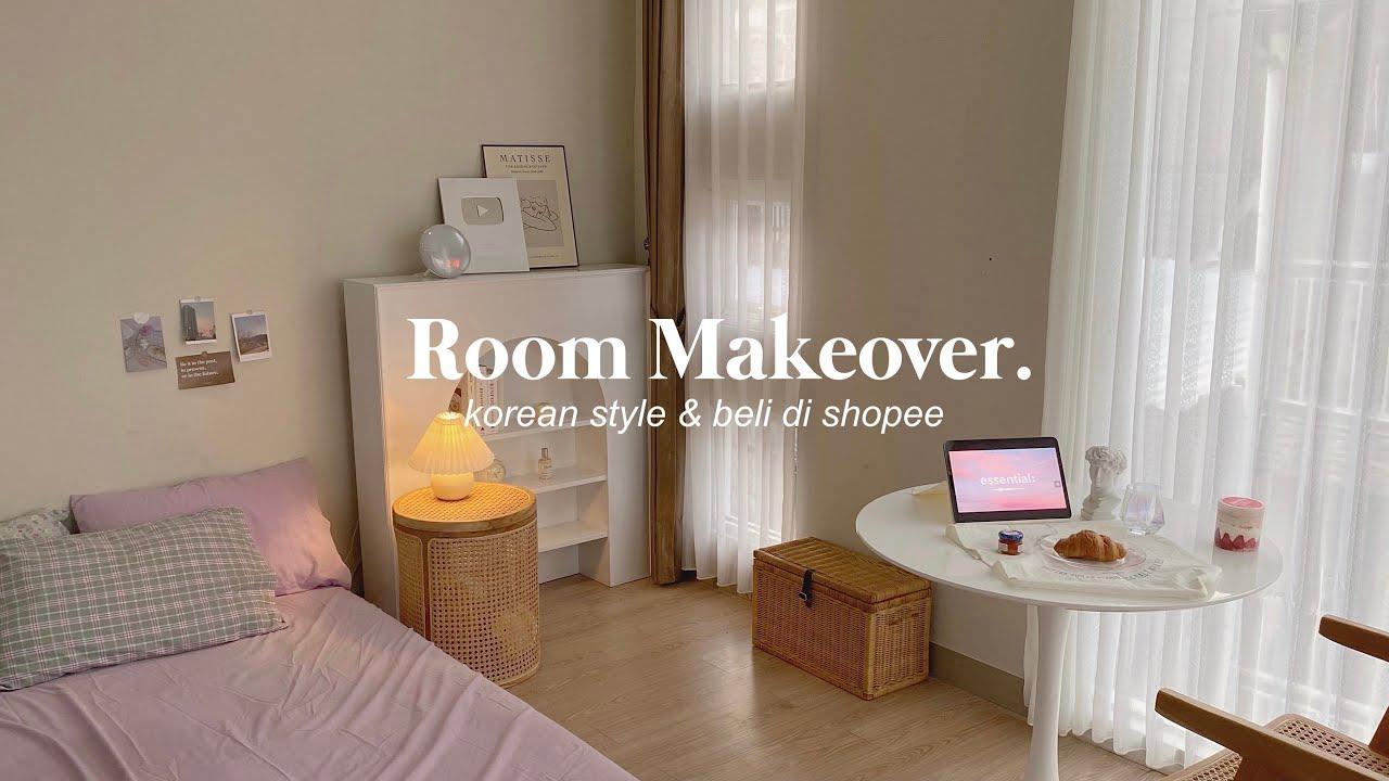 ROOM MAKEOVER! Korean style bedroom + room tour💫 dekor kamar bekas kost jadi aesthetic?