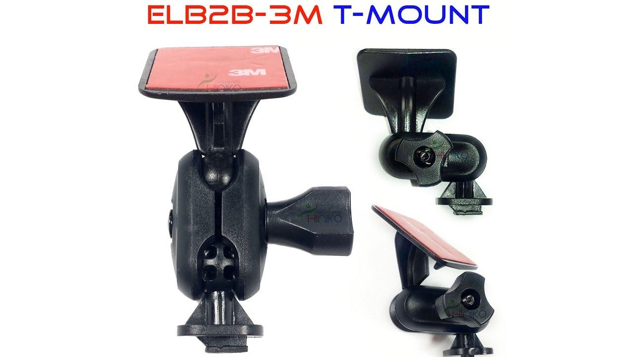 Download Quick Demo.(ELB2B-3M-T) T-Mount Elbow bracket / mount 2 ball joints for daschamera, car dvr