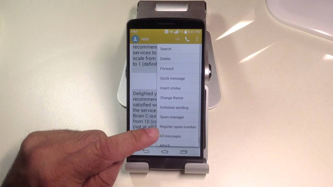 Lg g3 tips how to tag a text as a spam message youtube ccuart Gallery