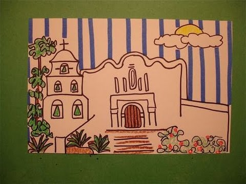 Let's Draw a California Mission! (San Diego)