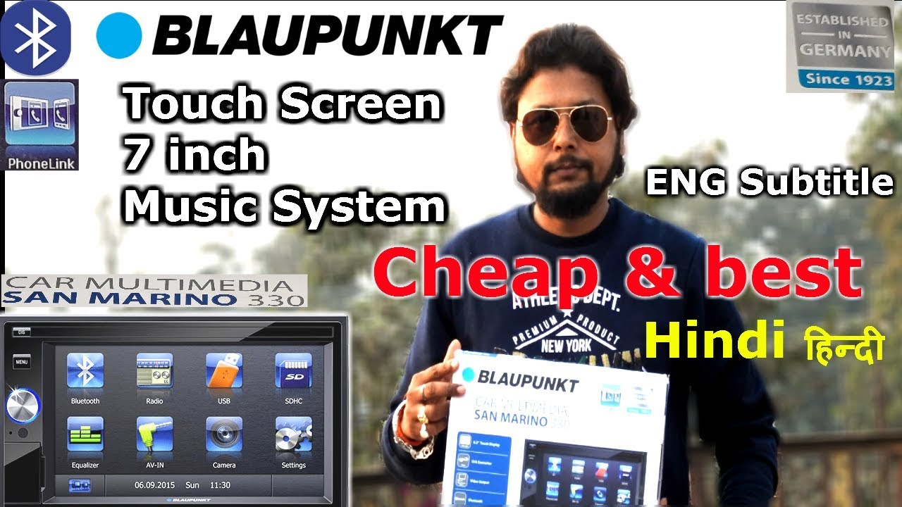 Blaupunkt San Marino 330 Car Stereo Eng Subtitle Touch Screen Phone Link Bluetooth Youtube