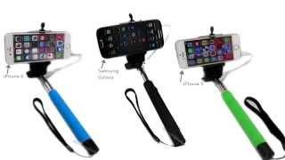 Extendable Self Portrait Monopod Remote Shutter Handheld Phone Selfie Stick
