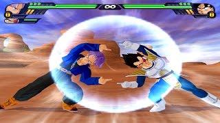 Vegeta and Trunks Fusion   Vegetrunks vs Goku   DBZ Tenkaichi 3 (MOD)