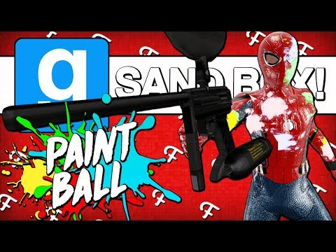Gmod: Pro Paintball Battle & Target Shooting Competition! (Garrys Mod Sandbox - Comedy Gaming)