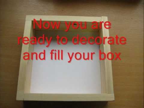 how to make a shadow box - YouTube