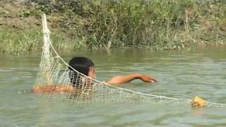 NET FISHING ON EMBA RIVER, KAZAKHSTAN: TIM COPE