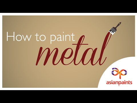 How to paint metal