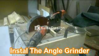Tablesaw and Mitresaw powered Angle Grinder