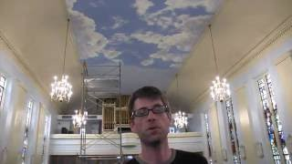 painting clouds on a ceiling