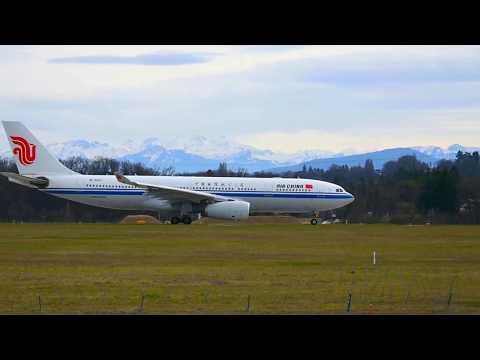 *HEAVY PLANE* Plane spotting at GVA..na GVA-PEK CA862 Airbus A330-243