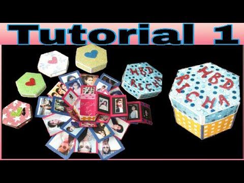 Tutorial 1   Hexagonal explosion box   Birthday /anniversary / special occasion gifting ideas
