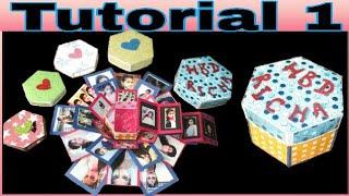 Tutorial 1 | Hexagonal explosion box | Birthday /anniversary / special occasion gifting ideas
