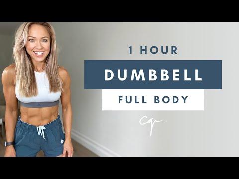1 Hour DUMBBELL FULL BODY WORKOUT at Home | Caroline Girvan