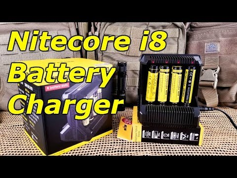 Nitecore I8 Intelligent Multi-Slot Charger - Charge 8 Batteries At Once!
