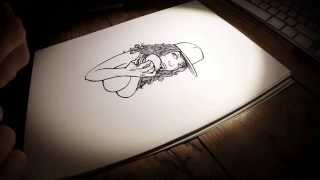 Gambar cover Micron pen 'burger girl' illustration time lapse [HD]