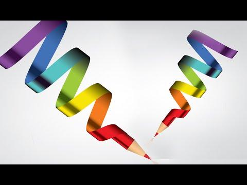 Illustrator Tutorial   Graphic Design   3D logo (pencil)