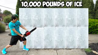 Can 10,000 Pounds Of Ice Be Turned Into Giant Art? | ZHC