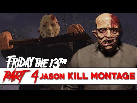 Part 4 Jason KILL MONTAGE! | Exclusive, Environmental, and Regular | Friday the 13th: The Game