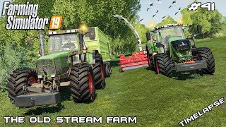 Grass silage harvest 1/2 | Animals on The Old Stream Farm | Farming Simulator 19 | Episode 41