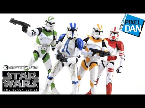 Star Wars Black Series Clone Troopers of Order 66 Entertainment Earth Figure 4-Pack Review