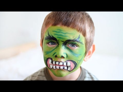 Maquillaje de halloween para ni os hulk youtube - Pinturas de cara para ninos ...