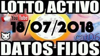 LOTTO ACTIVO DATOS FIJOS PARA GANAR  18/07/2018 cat06