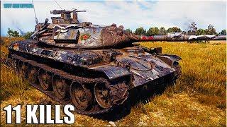 Колобанов на танке STB-1 🌟 11 ФРАГОВ 🌟 World of Tanks лучший бой на ст 10 Япония